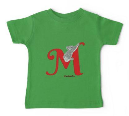 M is for Mist the wild koala who lives at Koala Gardens.