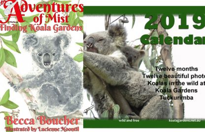 Cover of Finding Koala Gardens and cover of the 2019 Calendar.