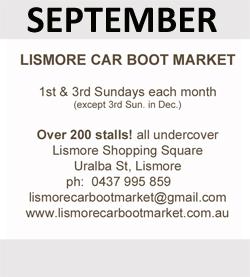 Lismore Car Boot Market are September Sponsor