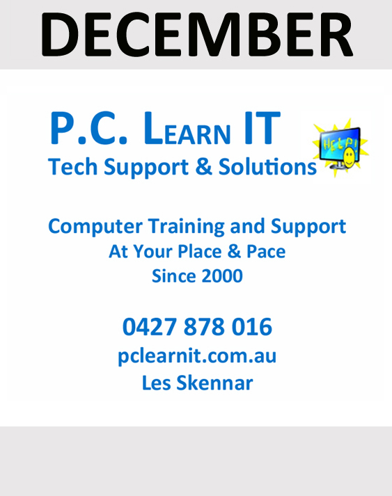 PC LearnIT sponsor in December