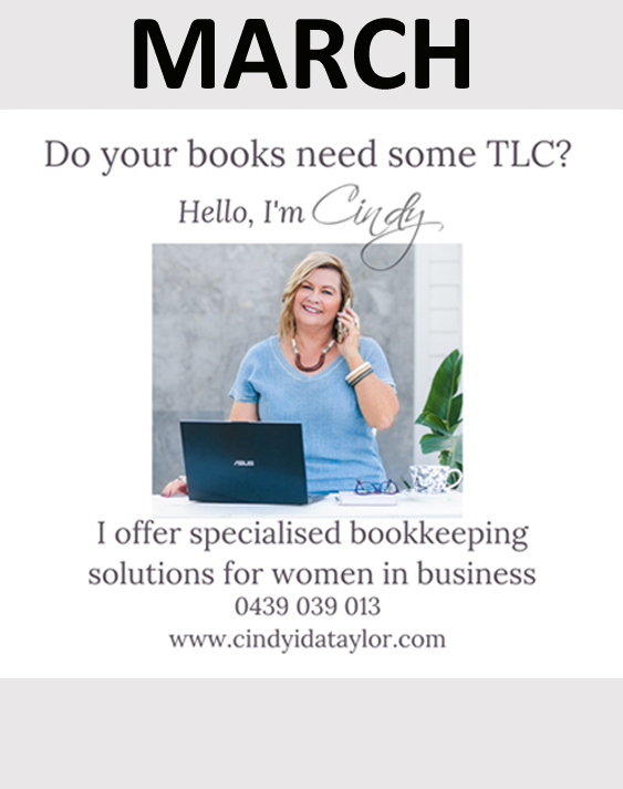 Cindy Taylor sponsors in March