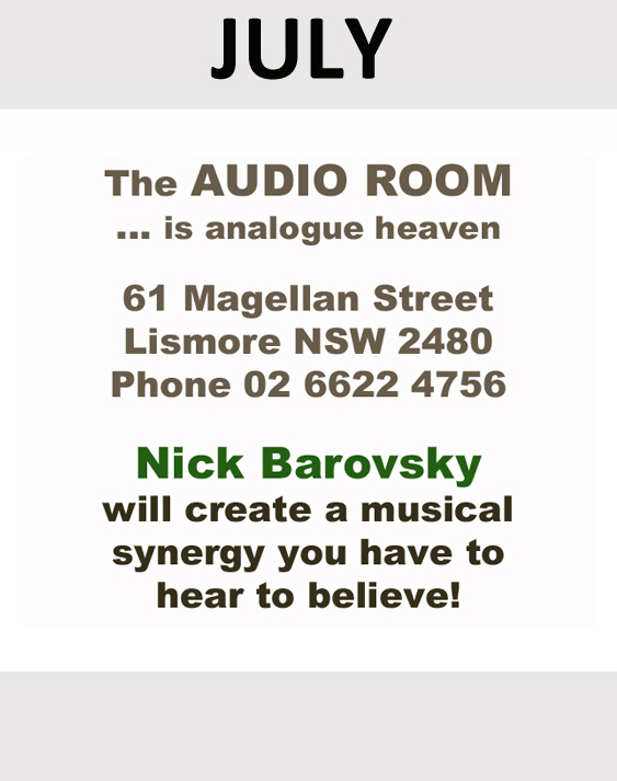 The Audio Room sponsor in July