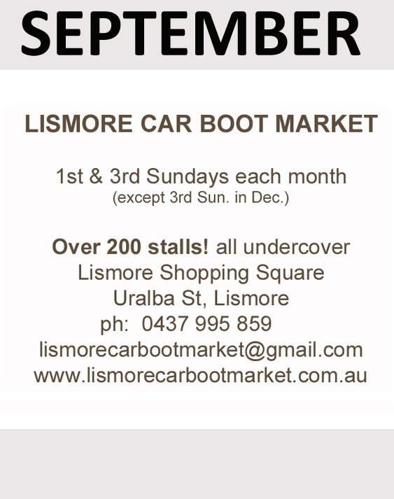 Lismore car boot market sponsor in September